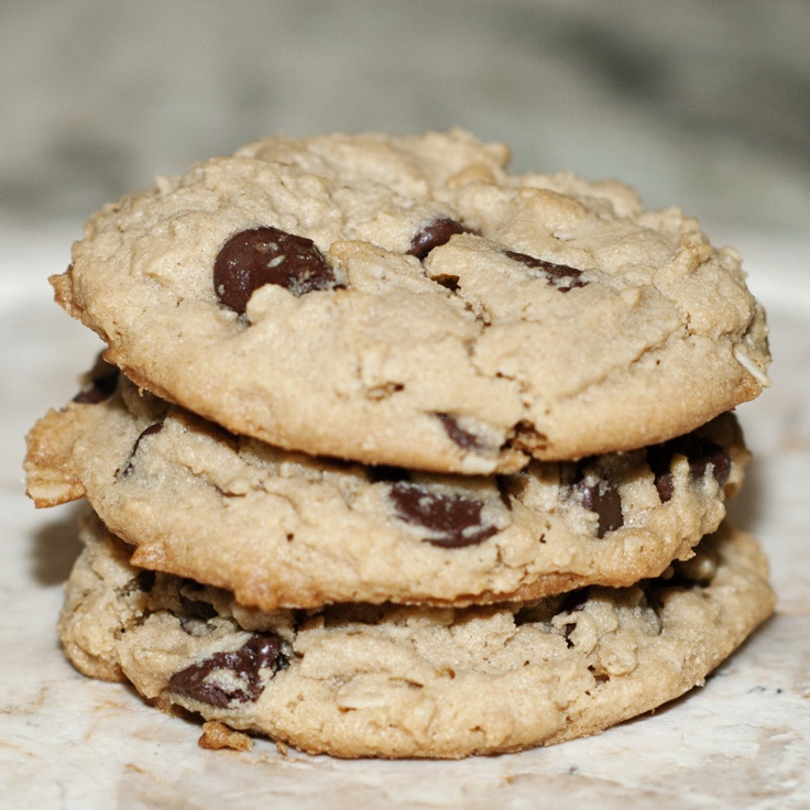 peanut butter. oatmeal. chocolate chip cookies