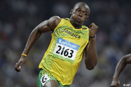 Watched Usain Bolt's 100m qualifying race at the Olympic Stadium London 04.08.12
