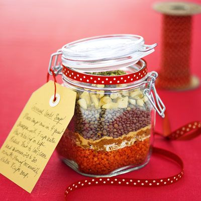 Soup mix recipe - layered in a jar (Good Housekeeping)