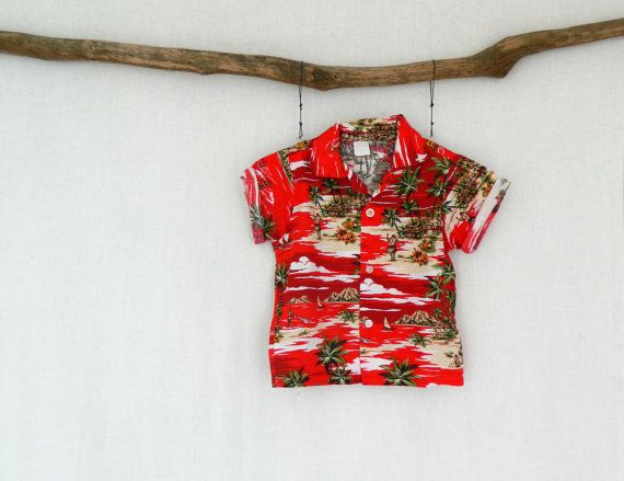 MOKE . vintage kids tropical hawaiian shirt by ThePaisley5Vintage