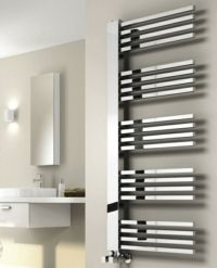 Reina Dexi Designer Towel Radiator - Chrome
