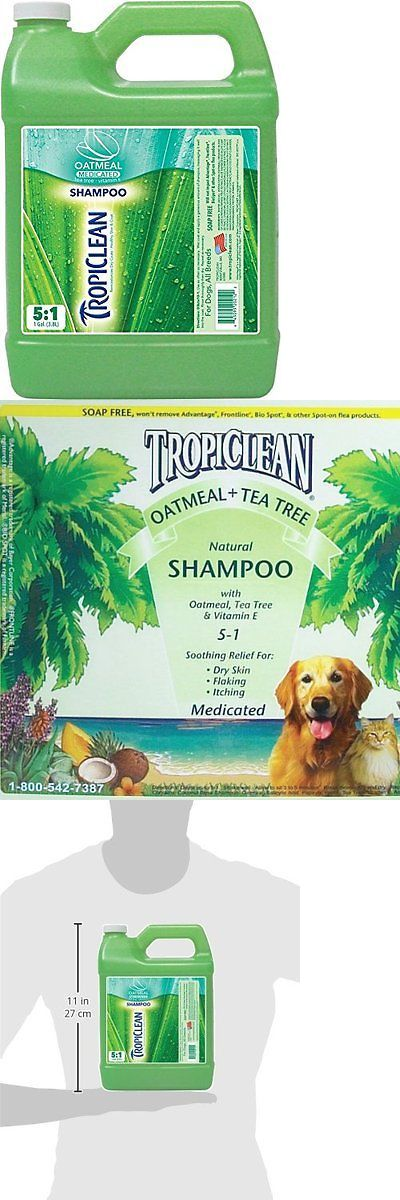 Shampooing and Washing 149019: Tropiclean Oatmeal And Tea Tree Medicated Dog Shampoo, 1 Gallon BUY IT NOW ONLY: $49.59