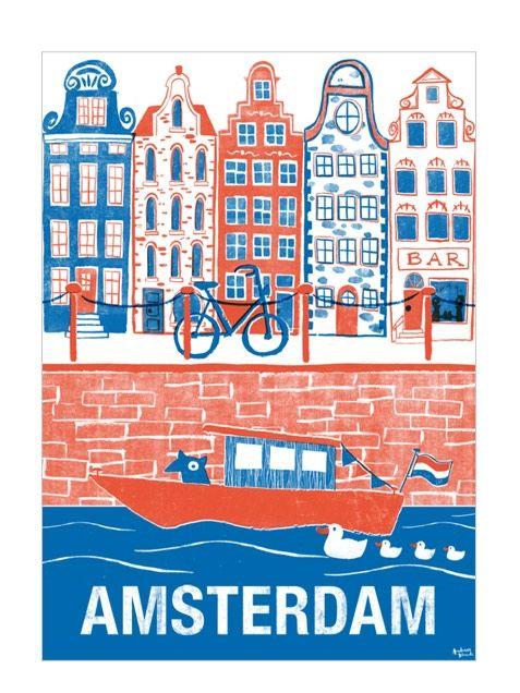 Amsterdam Poster at http://www.humanempireshop.com
