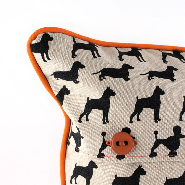 So many cute little doggies on this handmade cushion! Find it on etsy: Dog cushion | gift for mom | pillows | cushions | throw pillows | pillow cases | home and living | dog lover gift | dog mom | cushion covers