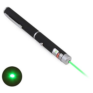 Pen Shape Astronomy 5mW 532nm Green Laser Pointer with Battery (2xAAA) – EUR € 10.07