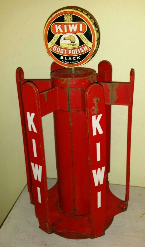 Vintage Kiwi Boot Polish Display