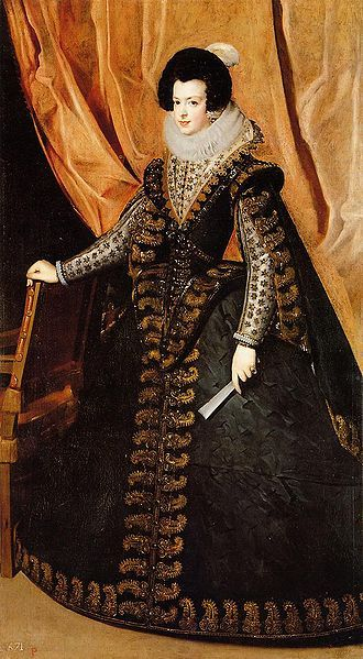 Mère de de Marie-Thérèse - Elisabeth de France (1602–1644) Isabel de Bourbon born in Chateau de Fontainebleau, daughter of Henri IV and second wife Marie de Medicis. When Henri IV was assassinated, his brother succeeded him as Louis XIII.