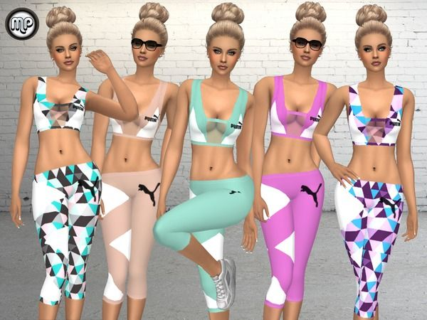 Sport outfit at BTB Sims – MartyP via Sims 4 Updates