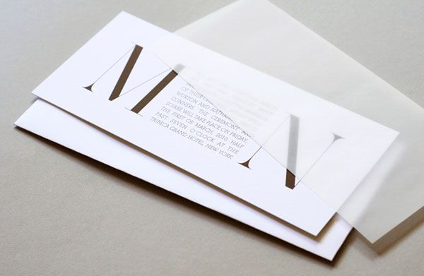 Rosebrook Meyer : Stylish, Modern Wedding Invitations | Invitation Crush