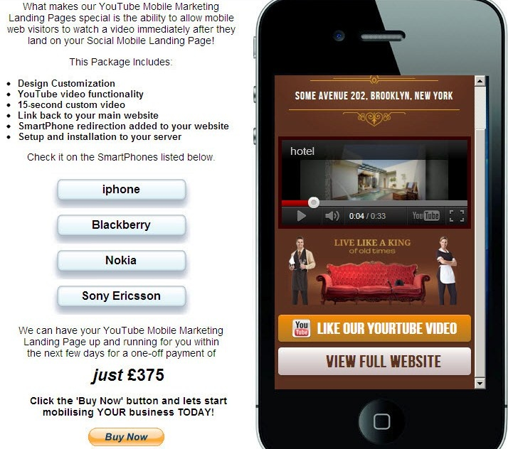 Hotel example http://dwmc.mobi/socialmobile/hotel/index.html