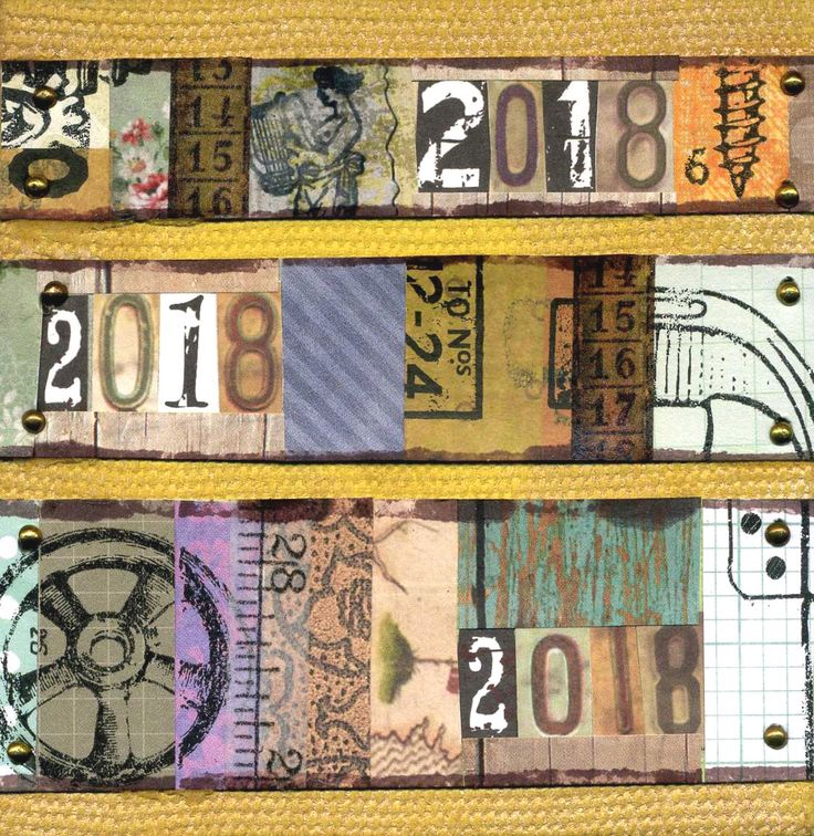 Mixed media canvas - collage wit scrap papers and rub-ons on a stretched 4 x 4 inch canvas.  @CanvasCorp, @timholtzdesigns, @TimHotz, #canvascorpbrands, #ccbcrew, #mixed