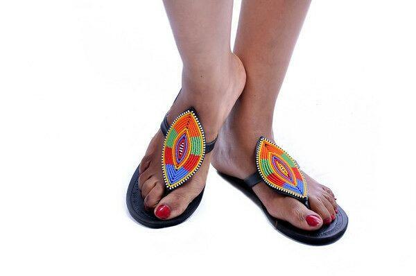 Sandales cuir MASAI LOSANGE