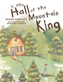 In the Hall of the Mountain King. A childrens book about Peer Gynt, a naughty little boy who disobeys his mother to stay out searching for treasure, discovers a magnificent cave that leads him deep into the heart of another world. based on the incidental music of Edvard Grieg.