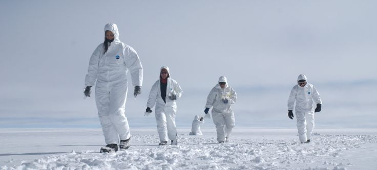 While part of the group collected surface snow samples, donning Tyvek suits to reduce contamination of the snow samples which are analyzed f...