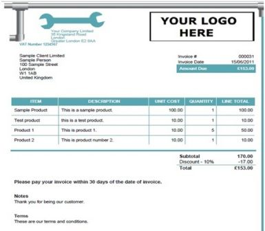 15 best Free Plumbing Invoice Templates images on Pinterest - sample catering invoice