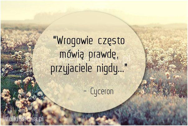 Wrogowie często mówią prawdę... #Cyceron,  #Przyjaźń, #Wrogowie
