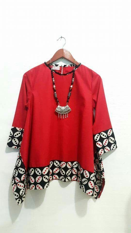 Model Baju Batik Atasan Batik Kombinasi Di 2019 Model Baju