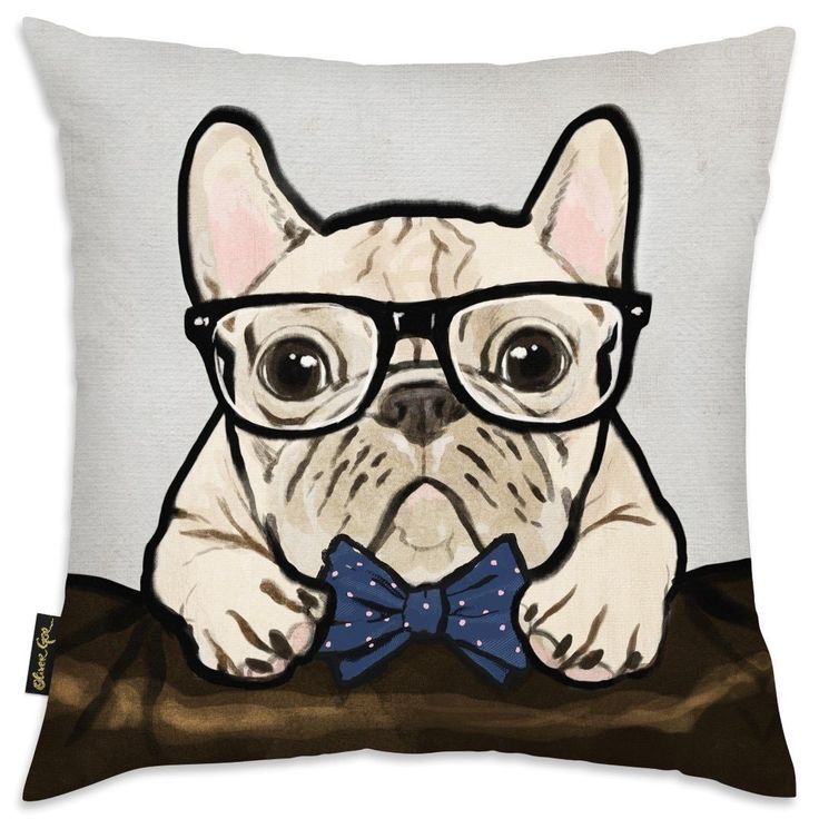 Oliver Gal 'Nerdy Gentleman' Decorative Throw Pillow