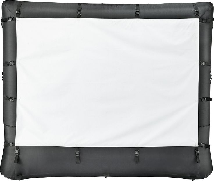 "Insignia™ - 96"" Inflatable Outdoor Projector Screen - Black"