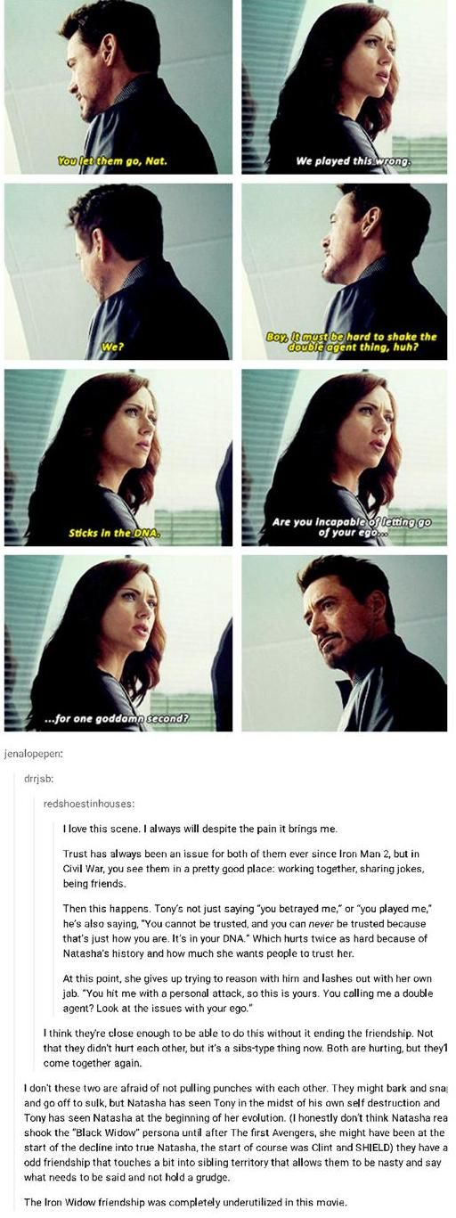 IronWidow relationship in Civil War