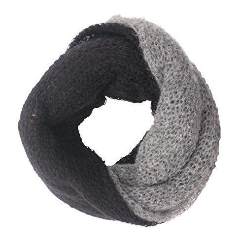 Scalda collo, sciarpa ad anello. Bicolor, unisex.