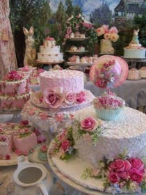 Beautifully Decorated Easter Tea Party Cakes and Cupcakes ? Bridal / Wedding Shower Cupcake and Cake Ideas | Kina Gecesi, Nisan, Dugun, Ozel Gunler veya Partiler Icin Ozel Pastalar: Cakes Parties, Easter Parties, Cakes Ideas, Easter Cake, Bridal Shower, Parties Ideas, Beautiful Cakes, Parties Cakes, Teas Parties