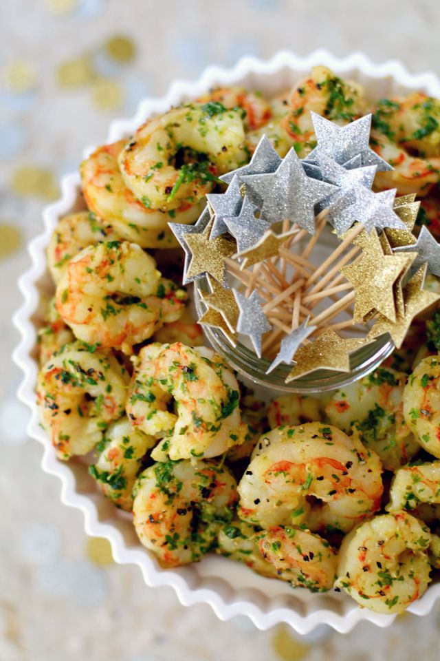 Start your next party with this easy, yet impressive, Healthy Chimichurri Shrimp Appetizer. It will be a huge hit and leave guests asking for the recipe!
