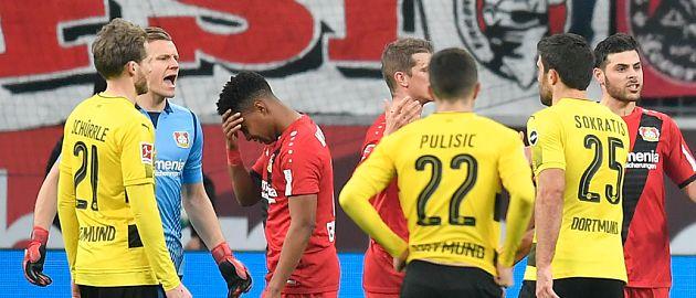 BL 17/18: 14.Sptg. Leverkusen-Dortmund 1:1 - BVB rettet einen Punkt: Leverkusen-Trainer Herrlich spricht über entscheidenden Moment