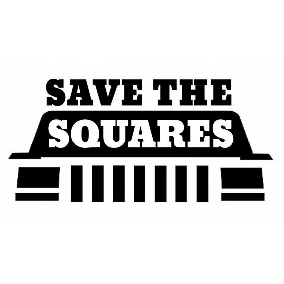 """Save the Squares"" Jeep Cherokee XJ Square Headlight Vinyl Decal"
