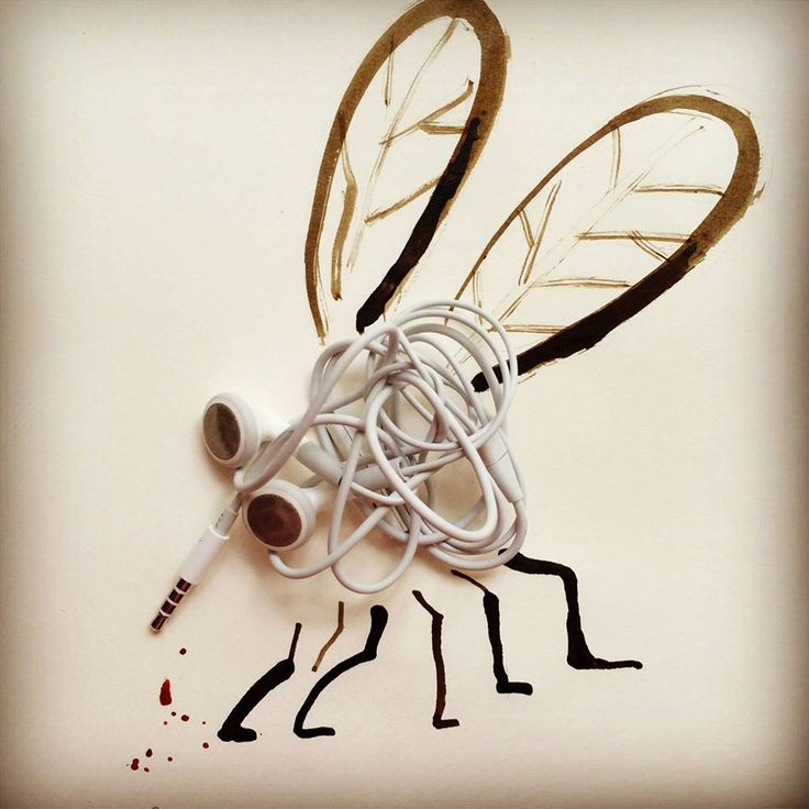 20 Creative Drawings Completed Using Everyday Objects By Christoph Niemann | BoredPanda
