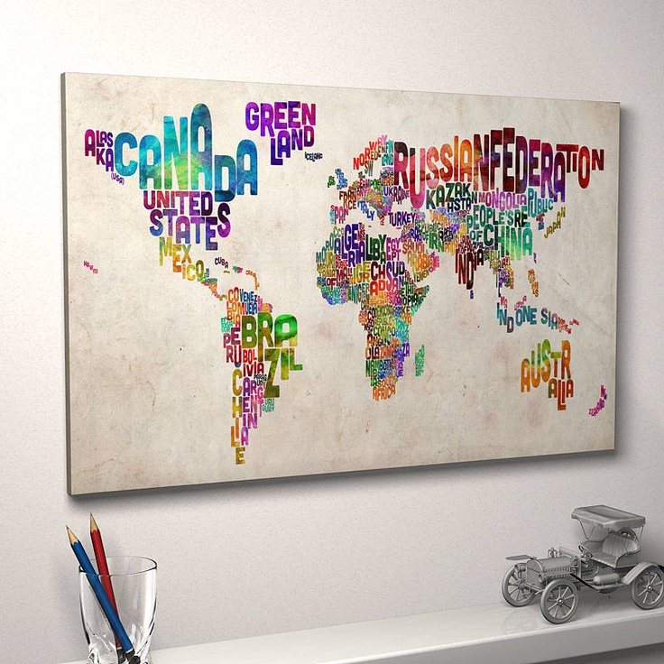84 best maps maps maps images on pinterest maps maps maps world typography world map art print gumiabroncs Gallery