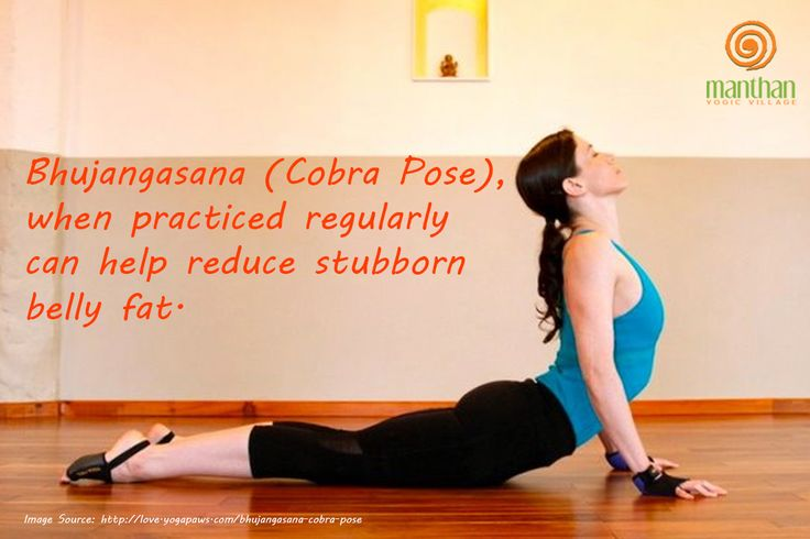 Bhujangasana (Cobra Pose), when practiced regularly can help reduce stubborn belly fat.