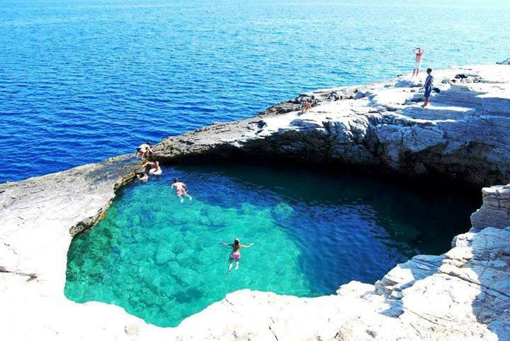 Natural swimming pool, Thassos island- Greece