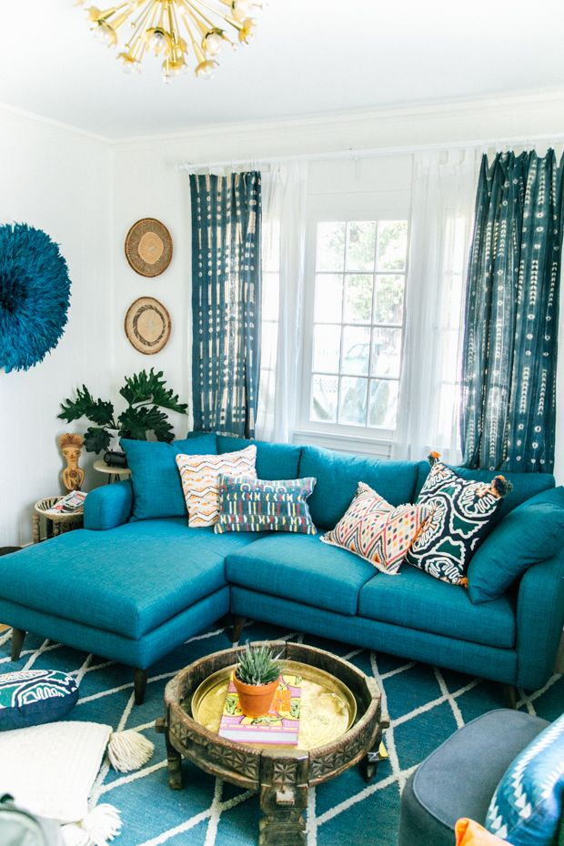 Best 25 Teal Couch Ideas On Pinterest Colorful