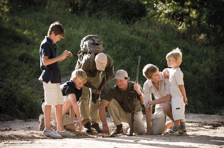 Lion Sands, Kruger Park, South Africa. Children enjoy tailored activities & dedicated guides at Lion Sands' family-oriented camps.#Travel #Africa #KidsOnSafari