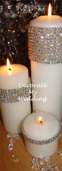 Image detail for -Crystal Banding Ribbon Rhinestone Trim, Candle,Vase Decoration