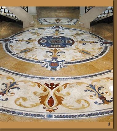 Marble Floor Medallions, Waterjet Granite, Ceramic Tile Murals – Creative Edge Master Shop Waterjet Cutting