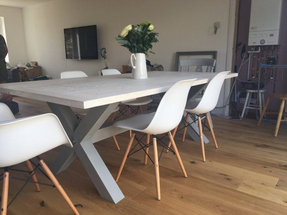 Rustic Farmhouse Dining table finished in by UniqueEtChicBespoke
