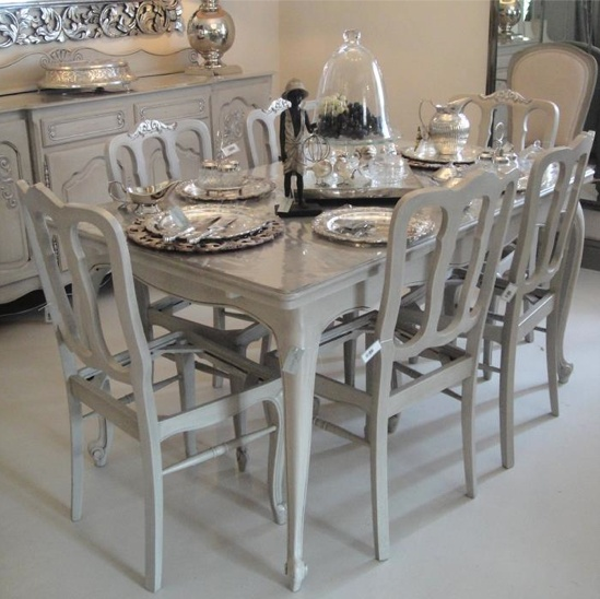 farriers table in french grey