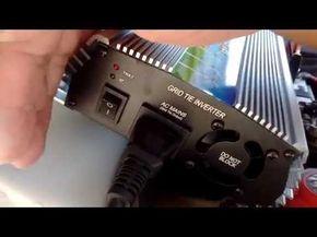 bateria 12 volts gerando energia para toda casa - luz, tv, ventilador - YouTube