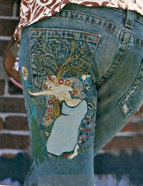 Vintage decorative jeans