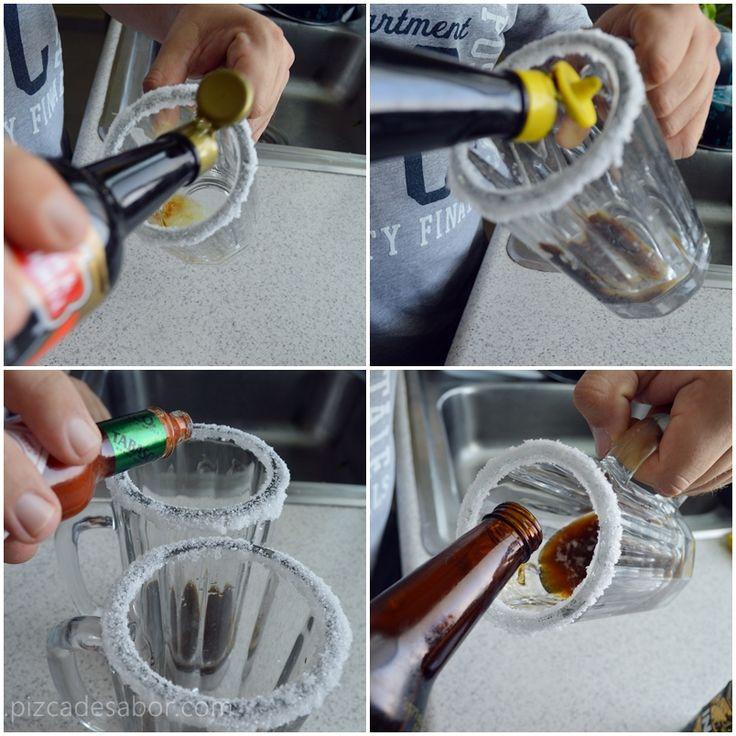 Cómo hacer una michelada y clamacheve (o vaso michelado y michelada con clamato) www.pizcadesabor.com
