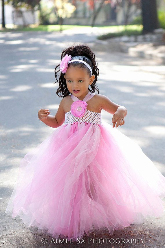 Pink tutu dress with matching headband by MelsDesignBoutique