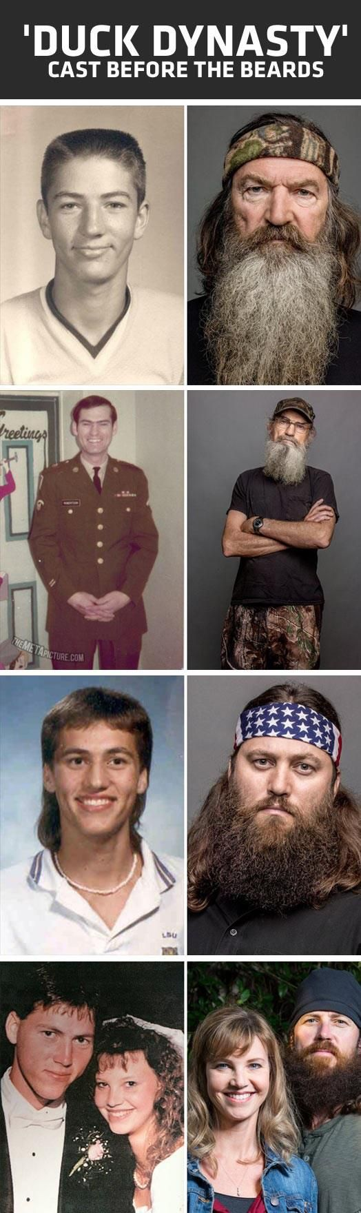 Then and Now duck dynasty
