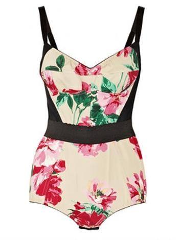 Dolce & Gabbana Peony-Print Bodysuit Get a jump on spring and release