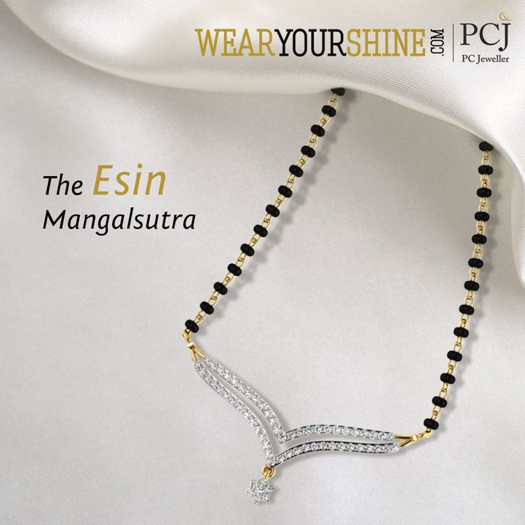 "Add charm to your married life with ""The Esin Mangalsutra""  #WearYourShine #Love #Mangalsutra #Diamonds #PCJeweller #IndianJewellery #Happiness #Wedding #Marriage #Trending"