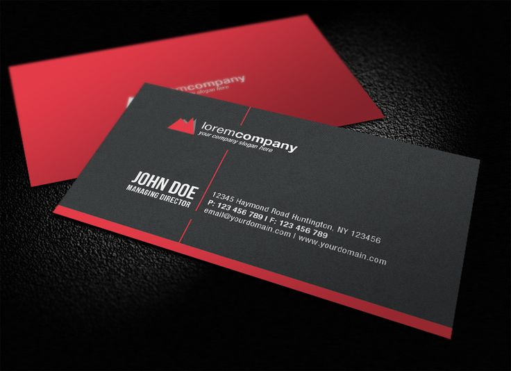Professional Corporate Business Card by glenngoh on DeviantArt