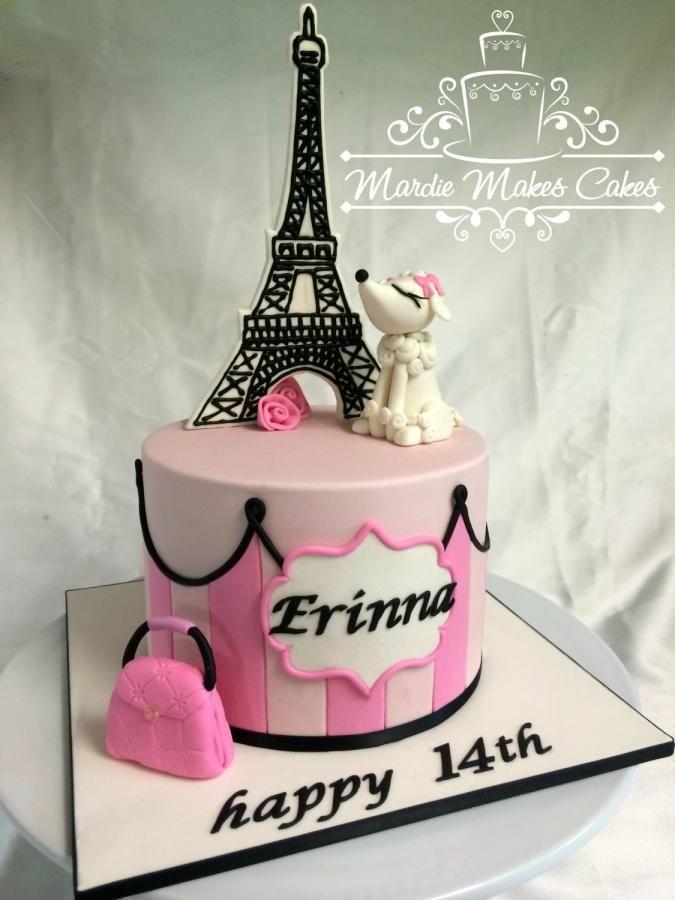 Best Paris Cakes Images On Pinterest Biscuits Paris Cakes - Birthday cake paris