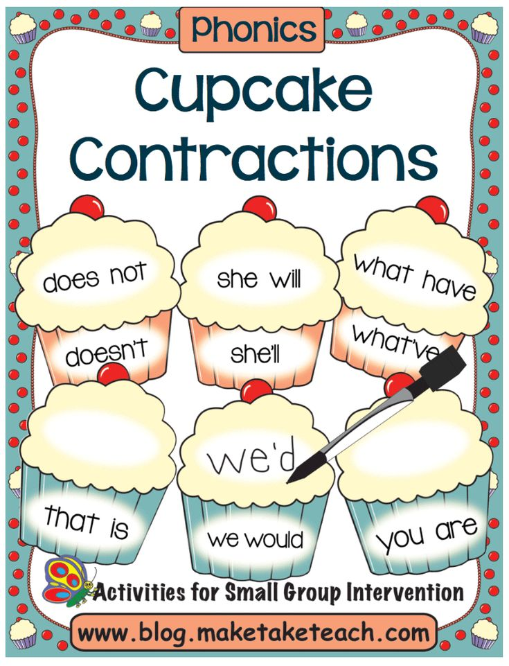 how to teach contractions to 1st grade