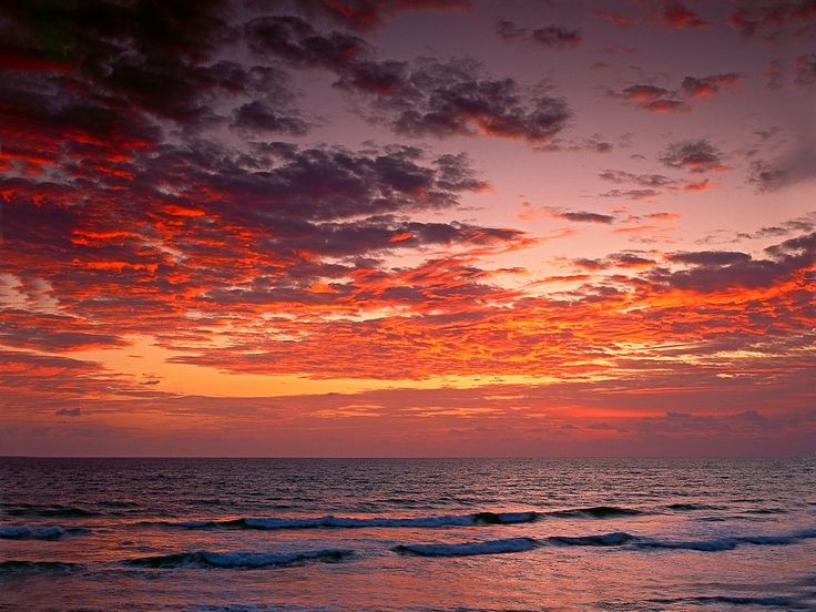 Sunrise Of Atlantic Ocean Jupiter Florida Picture Photo Wallpaper